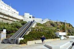 Cidade velha de Albufeira fora da escada rolante imagem de stock royalty free