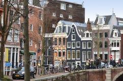 Cidade velha de Amsterdão Imagem de Stock Royalty Free