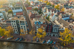 Cidade velha de Amsterdão na Holanda Foto de Stock