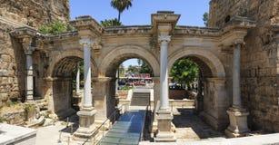 A cidade velha de Antalya foto de stock