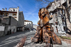 A cidade velha de Aosta, aosta do ` de Valle d, Itália Imagem de Stock Royalty Free