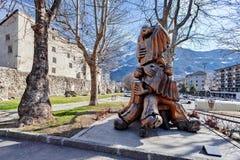 A cidade velha de Aosta, aosta do ` de Valle d, Itália Fotografia de Stock Royalty Free