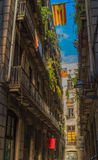 A cidade velha de Barcelona Fotografia de Stock