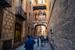 Cidade velha de Barcelona, Espanha Foto de Stock Royalty Free