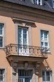 Cidade velha de Bayreuth do balcão de aço velho imagens de stock