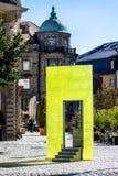 Cidade velha de Bayreuth - escultura Lucy imagem de stock royalty free