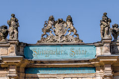 Cidade velha de Bayreuth - manufacturerr do piano de Steingraeber Imagens de Stock Royalty Free