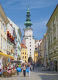 Cidade velha de Bratislava, Eslováquia fotografia de stock royalty free