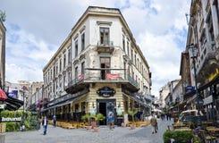 Cidade velha de Bucareste, Romênia Fotografia de Stock