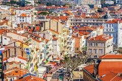 A cidade velha de Cannes, França Cote d'Azur Fotografia de Stock