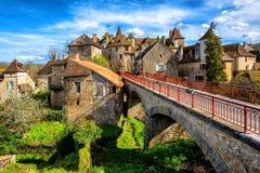 Cidade velha de Carennac, lote, França imagem de stock royalty free