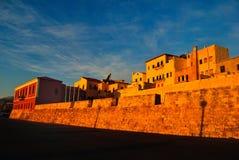 Cidade velha de Chania na Creta Grécia Foto de Stock Royalty Free