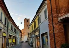 Cidade velha de Comaccio, Emilia Romagna, Itália imagens de stock royalty free
