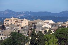 Cidade velha de Corfu das construções Imagens de Stock