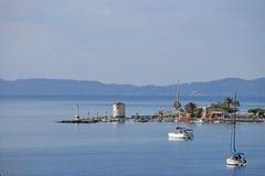 Cidade velha de Corfu do moinho de vento Imagens de Stock Royalty Free