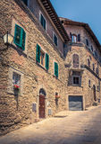Cidade velha de Cortona em Toscânia Fotos de Stock
