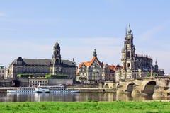 Cidade velha de Dresden, Saxony, Alemanha Foto de Stock
