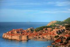 A cidade velha de Dubrovnik, Croatia Fotos de Stock Royalty Free