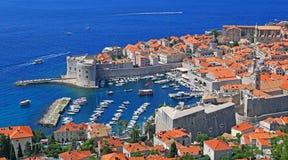 Cidade velha de Dubrovnik, Croatia imagens de stock