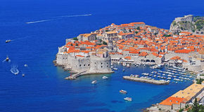 Cidade velha de Dubrovnik, Croatia fotos de stock