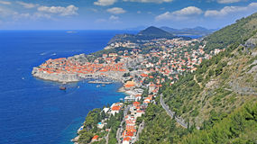 Cidade velha de Dubrovnik, Croatia fotografia de stock