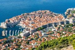 A cidade velha de Dubrovnik, Croatia Foto de Stock