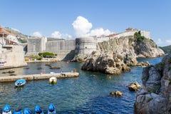 Cidade velha de Dubrovnik, Croatia Foto de Stock Royalty Free
