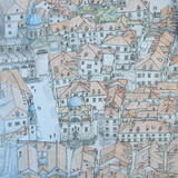 Cidade velha de Dubrovnik de cima de Imagem de Stock