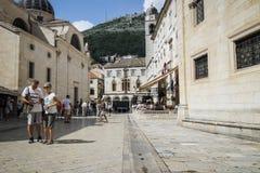 Cidade velha de Dubrovnik em Croatia fotos de stock