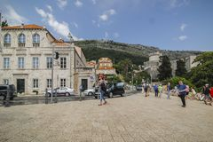 Cidade velha de Dubrovnik em Croatia fotografia de stock