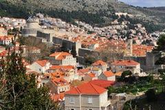 Cidade velha de Dubrovnik, província de Dalmácia Fotos de Stock Royalty Free