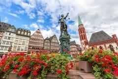Cidade velha de Francoforte fotos de stock royalty free