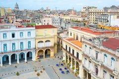 A cidade velha de Havana Fotos de Stock Royalty Free