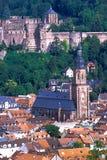 Cidade velha de Heidelberg (Alstadt) - Heidelberg, Alemanha Imagem de Stock Royalty Free