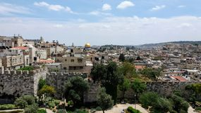 Cidade velha de Jerusalem Foto de Stock