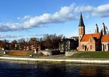Cidade velha de Kaunas imagem de stock