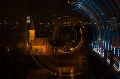 Cidade velha de Kaunas na noite fotografia de stock royalty free