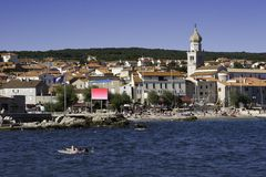 Cidade velha de Krk, Croatia Fotografia de Stock Royalty Free