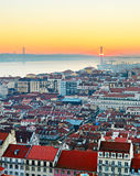 Cidade velha de Lisboa, Portugal Fotos de Stock Royalty Free