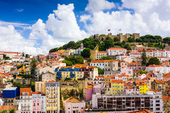 Cidade velha de Lisboa Portugal foto de stock royalty free
