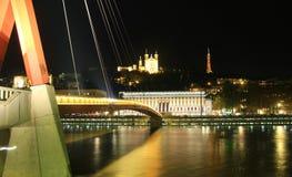 Cidade velha de Lyon e os palais de judetrice, França Imagem de Stock Royalty Free