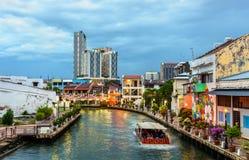 A cidade velha de Malacca, um local do patrimônio mundial do UNESCO em Malásia imagem de stock royalty free