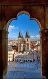 Cidade velha de Mesto do olhar fixo Imagem de Stock Royalty Free