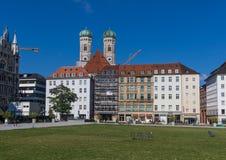 A cidade velha de Munich, um local do patrimônio mundial do Unesco fotos de stock