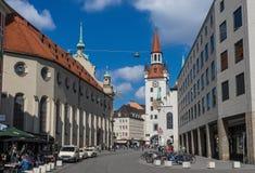 A cidade velha de Munich, um local do patrimônio mundial do Unesco imagens de stock