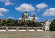 A cidade velha de Munich, um local do patrimônio mundial do Unesco imagem de stock