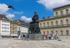 A cidade velha de Munich, um local do patrimônio mundial do Unesco foto de stock