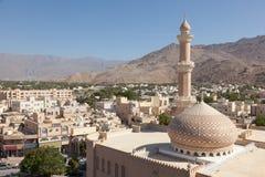Cidade velha de Nizwa, Omã foto de stock