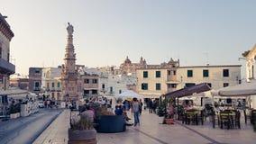 A cidade velha de Ostuni, Itália fotografia de stock royalty free