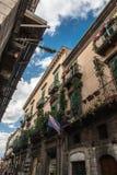 Cidade velha de Pacentro na região das montanhas de Abruzzo Imagens de Stock Royalty Free